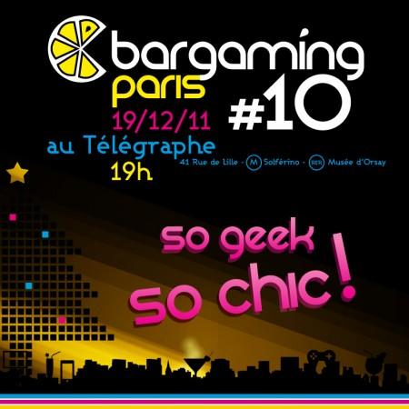 [BarGaming 10] Le lundi 19/12 au Télégraphe!