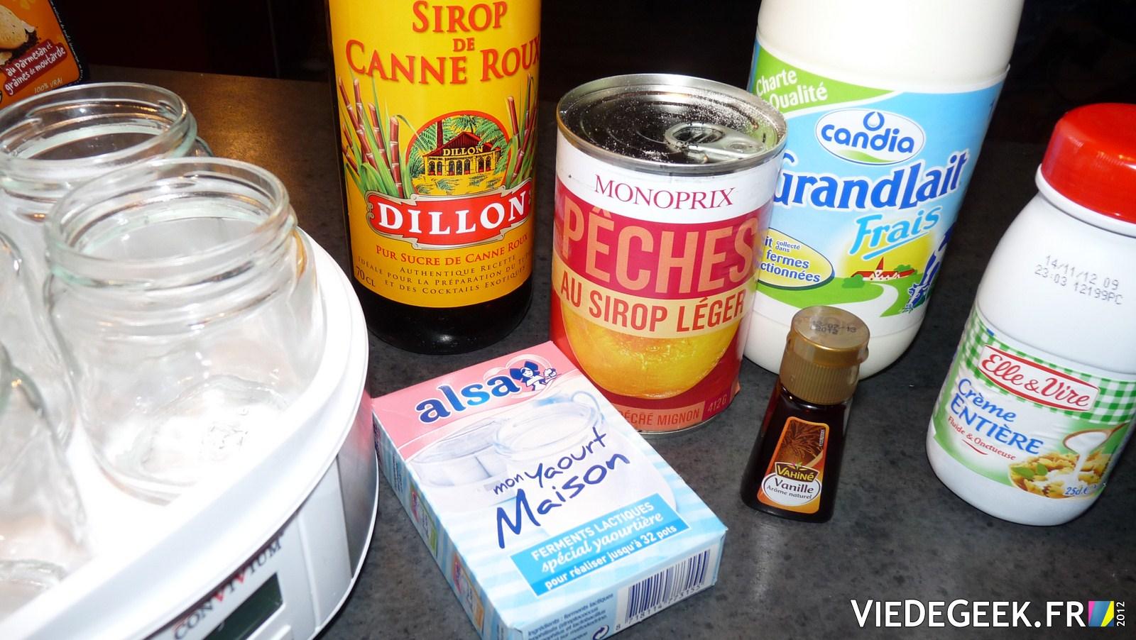 Vie de gourmand mes yaourts maison p che et vanille - Fabrication de yaourt maison ...