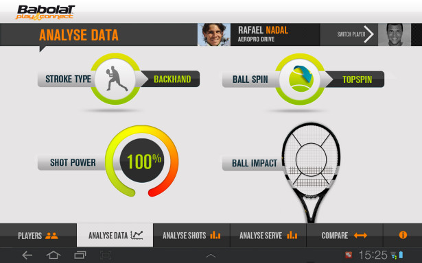 Babolat Play Pure Drive app