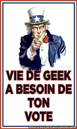 Viedegeek a besoin de ton vote !