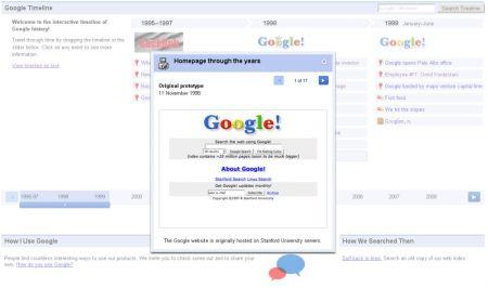 Historique des 10 ans de Google