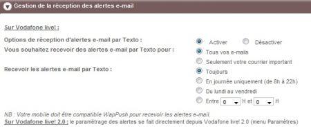 Alertes SMS et gestion de vos mails chez SFR