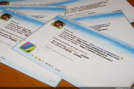 Nos cartes de visites de Geek : Google, twitter, Msn et Sonic !