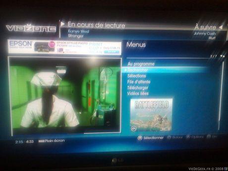 [Vidzone] Le service de clip vidéo gratuit de la PS3