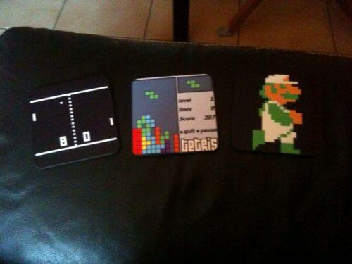 [Ma vie de geek] un peu de déco : magnets et dessous verre retrogaming