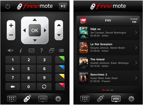 [Mon iphone et moi] Freemote , la télécommande pour Freebox !