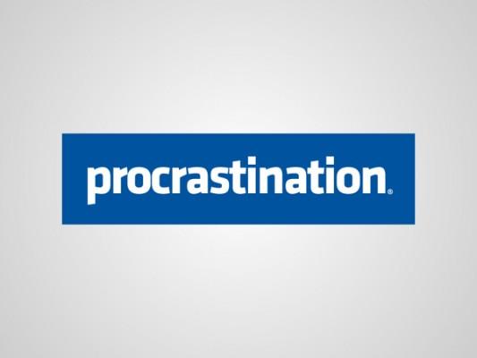 Logo facebook procrastination