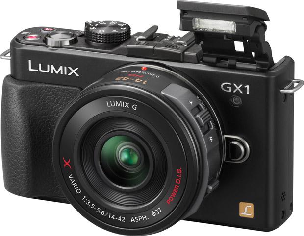 Panasonic Lumix DMC-GX1 - flash ouvert