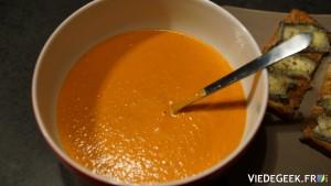 [Vie de Gourmand] Soupe crémeuse de tomates au mascarpone