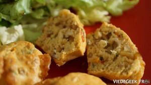 [Vie de Gourmand] Muffins au bleu, tomates séchées et pignons
