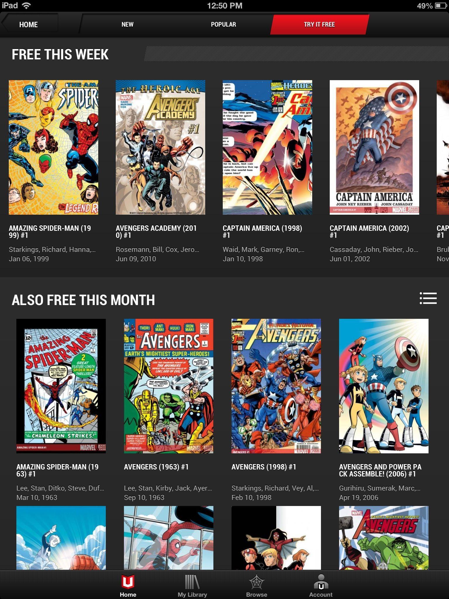 [Comics] Marvel Unlimited  c'est le bonheur
