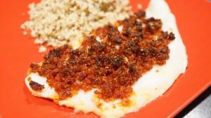 [Vie de Gourmand] Filet de pangas au crumble de chorizo