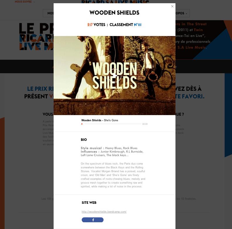 [Music] Les Wooden Shields participent au Prix Ricard