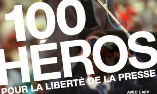[Photo] 100 héros pour la liberté de la presse