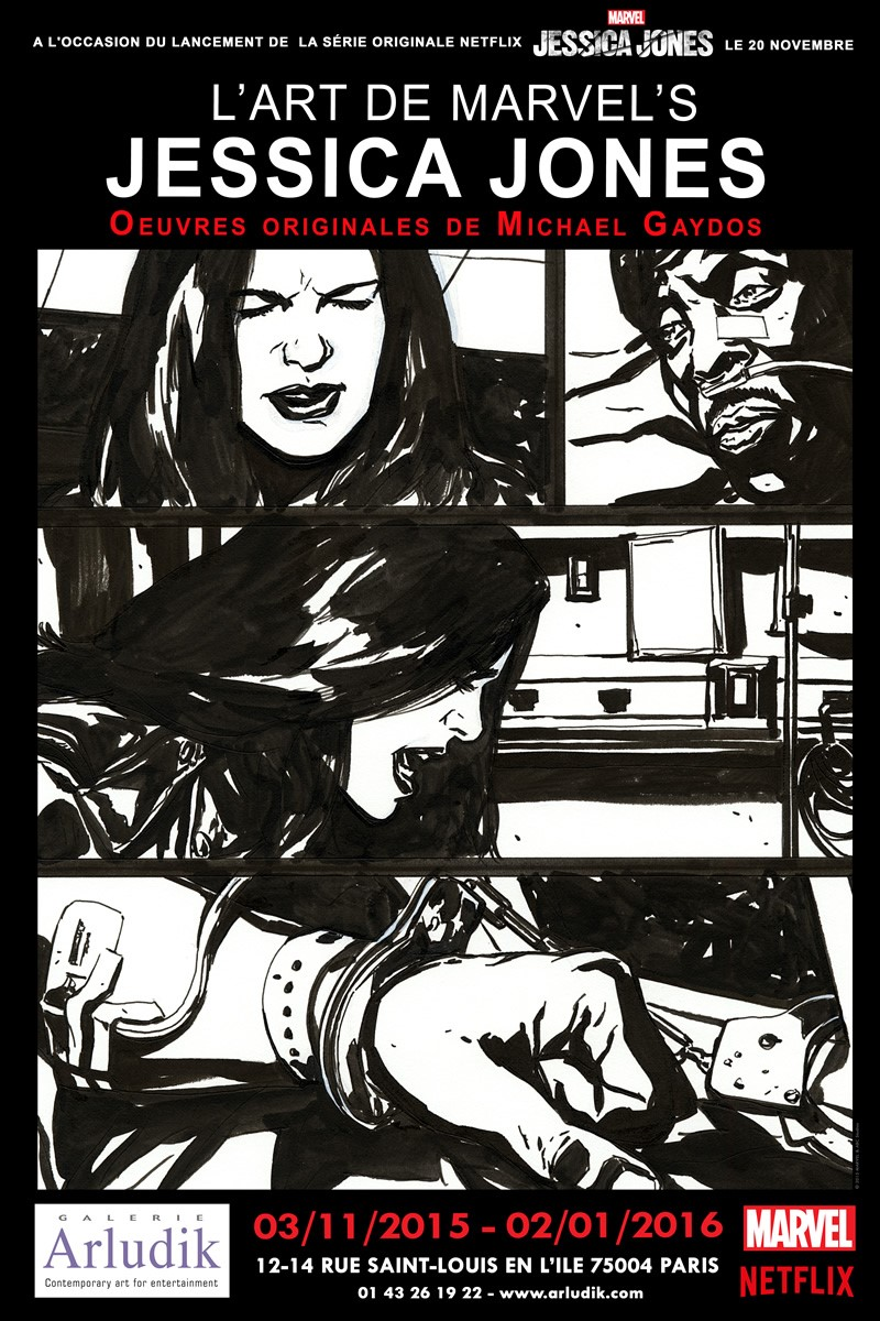 [Critique Expo] L'art de Marvel's Jessica Jones