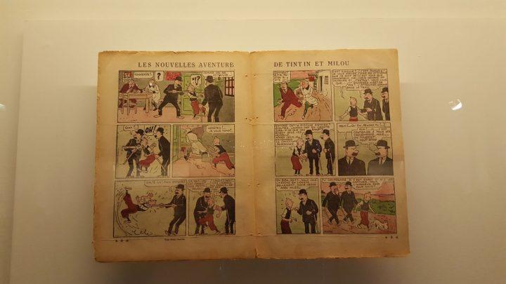 Ancienne édition de Tintin au Grand Palais pour l'exposition Hergé.