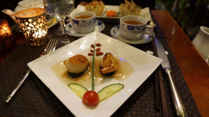 La fleur de zen, une entrée signature de Shimin Chen au restaurant chinois le Lys d'or