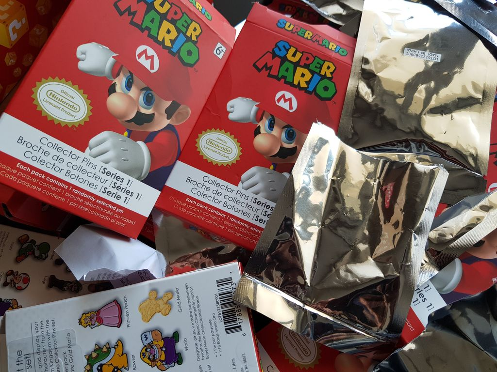 [Vie de Loot ] Taslaref : A la recherche du GOLDEN  Super Mario Collector Pins !