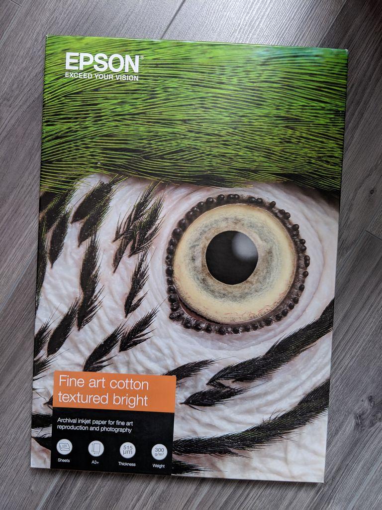 [Vie de Photo] Le nouveau Papier Beaux-Arts Epson , de l'expo imprimé chez toi