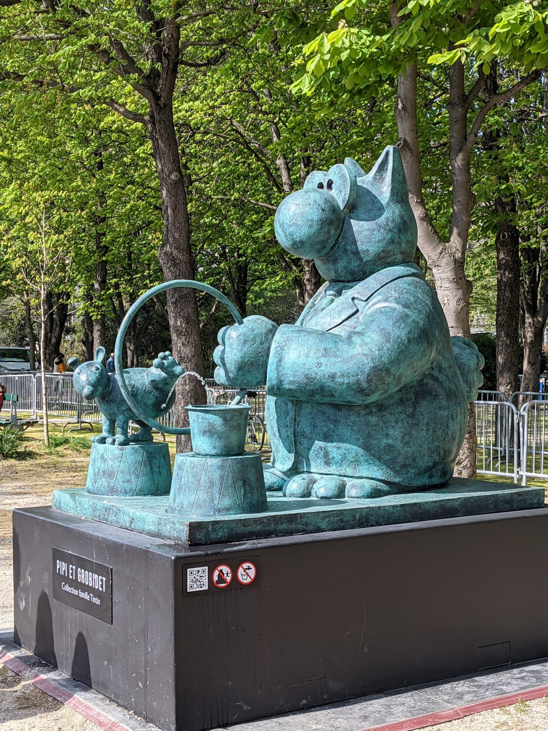 [Expo] Les photos du «Chat déambule» de Geluck aux Champs-Élysées