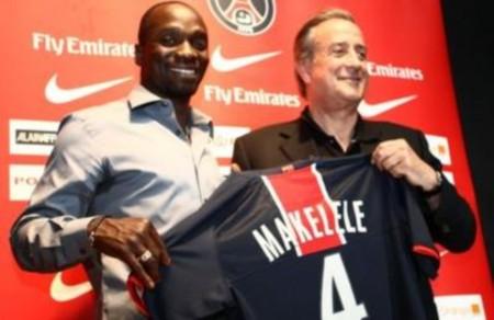Claude Makelele aux côtés de son nouveau président Charles Villeneuve - Panoramic